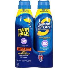 Coppertone® Sport® Broad Spectrum SPF 50 Sunscreen Spray 2-6 fl. oz. Aerosol Cans