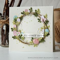 by Deny - cardmaking, scrapbooking and other crafts Diy Easter Cards, Easter Crafts, Paper Cards, Diy Cards, Karten Diy, Easter Wishes, Handmade Card Making, Some Cards, Card Making Inspiration
