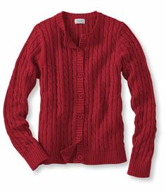 Double L Cotton Sweater, Button-Front Cardigan: Cardigans | Free Shipping at L.L.Bean