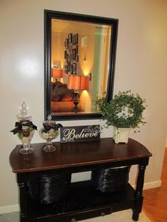 Cute idea for entry way table.