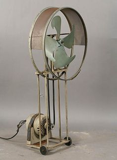 Vintage industrial factory fan circa Ht: Width: Depth: on Apr 2011 Industrial Fan, Industrial Interior Design, Vintage Industrial Decor, Industrial Interiors, Industrial Furniture, Industrial Lighting, Industrial Office, Vintage Metal, Antique Fans