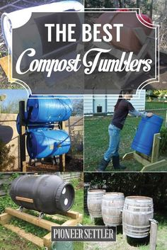 13 Best DIY Compost Tumblers via PioneerSettler.com