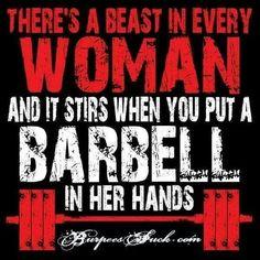 Damm beastresses kill em weights and show em who you all are ... Beasttttttt