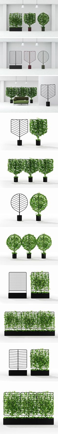 At once sculptural and organic, Helen Kontouris' Botanical Planter Screens provide a sense natural visual separation to indoor and outdoor spaces alike. Unlike formal hedges and trendy vertical gardens, each screen in the collection functions much in the same way as a typical potted plant, keeping maintenance to a minimum, even for those without a refined green thumb.