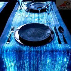 Скатерть из оптических волокон, имитирующих струящуюся воду  #mirremonta174 #мирремонта174
