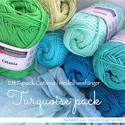 Catania Turquoise pack - 7-pack i medelhavsfärger