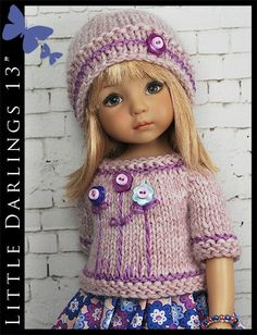 """Spring Outfit for Little Darlings Effner 13"""" by Maggie & Kate Create"""