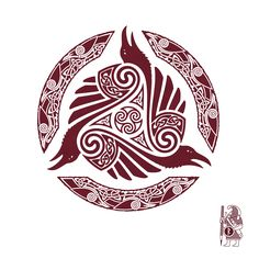 RAVEN'S FEAST. Ravens and Triskele knotwork Tattoo design by RAIDHO.