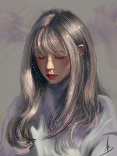 art art girl Digital Art by Digital Art Girl, Digital Foto, Digital Art Anime, Digital Portrait, Portrait Art, Fille Blonde Anime, Art Anime Fille, Anime Art Girl, Manga Art