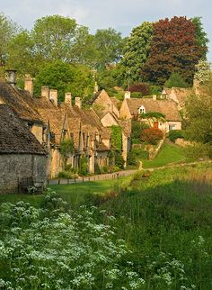 The Cotswolds are one of the most beautiful places to visit in the UK. Awkward Hill is the lane that rises up from Arlington Row to the mill in Bibury, Gloucestershire, England. The Places Youll Go, Oh The Places You'll Go, Places To Visit, Arlington Row, English Village, German Village, English Cottages, England And Scotland, England Uk
