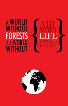 """A world without forests is a world without: air, water, life, animals, plants.""  This poster sends a strong message of the importance of forests, and what they sustain. (Source: www.flickr.com/photos/steven_grant)   Don't let Yasuni National Park be one less for the world. Please donate to the Yasuni-ITT Fund: mptf.undp.org/yasuni."
