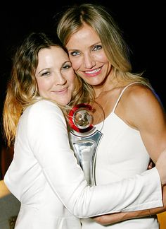 Drew Barrymore and Cameron Diaz  BFF's  Charlies angels