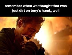 At first I was like: Oh no, is that blood on his hand?? After watching IW: Oh, no, this is much worse!