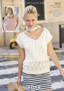SIMPLY RECYCLED KNITTING PATTERN 9429 SUMMER TOP