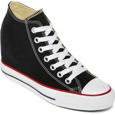 bf4273954c3c4e Converse Women s Chuck Taylor Lux Mid Black Basketball Shoe Get some  fashionable height with our hidden wedge All Star sneakers that are both  comfy and ...