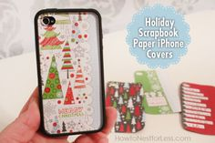 scrapbook paper iphone covers