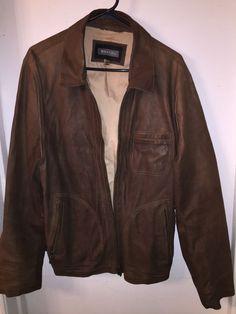 f1440ba1a5 Mens WHET BLU Brown Leather Jacket sz Large  fashion  clothing  shoes   accessories  mensclothing  coatsjackets (ebay link)