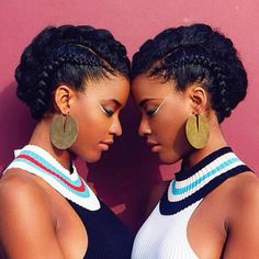 Beautiful image of twins - cheveux - - Curly Hair Salon, Hair Dos, Curly Hair Styles, Natural Hair Styles, Black Power, Pelo Afro, Pelo Natural, Queen Hair, Natural Hair Inspiration