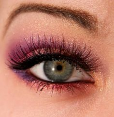 Glitter with color- a bit much for us, but I love the shine and color!
