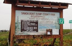 Samoa Boat Ramp rv camping area by the beach