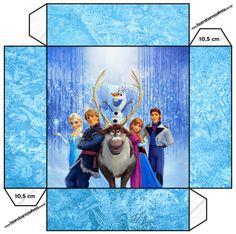 Cajas de Frozen para Imprimir Gratis.