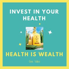 If you agree that to be healthy is also to be wealthy, you might like to click the video link for more info about Forever's nutritious Aloe Vera Drinks. #wellness