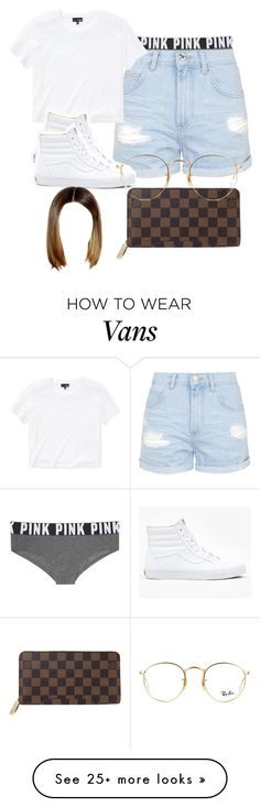 """Untitled #452"" by swaggerjaggr on Polyvore featuring Victoria's Secret, Topshop, Wilfred Free, Louis Vuitton, Vans and Ray-Ban"