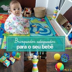 Muitas vezes temos dúvidas em quais são os brinquedos indicados para bebês em seu primeiro ano de vida. Pois fomos pesquisar e trouxemos a você