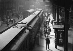 Berlin: Stettiner Bahnhof; Bahnsteig E-Zug nach  Heringsdorf-Juni 1935
