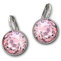 Swarovski Bella Rose Swarovski Crystal Mini Drop Earrings ($79) ❤ liked on Polyvore featuring jewelry, earrings, pink, rose earrings, swarovski crystal jewelry, swarovski earrings, disc drop earrings and pink earrings
