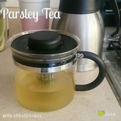 Someone shared that parsley tea helps swollen feet. I added ginger.  #tea #hottea #homemade #loosetea