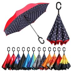 Reverse Umbrella Double Layer Inverted Umbrellas For Car Rain Outdoor With C-Shaped Handle Inspirational Bird Quote Freedom Customized