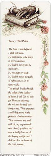 PMC Bookmark. Bible, 23rd Psalm verse #MemorialCard #Bible #23rdPsalm