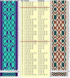 Two opposite threadings - same movements / 20 tarjetas, 3 colores, repite cada 22 movimientos // sed_533 & sed_533a diseñado en GTT༺❁