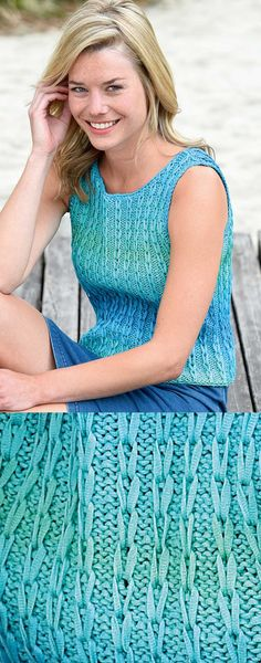 Free Knitting Pattern for an Easy Summer Top.