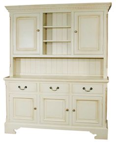 White Kitchen Dresser shabby chic vintage oak kitchen dresser storage cupboard painted