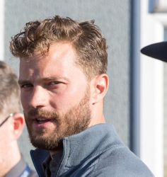 Jamie Dornan at Alfred Dunhill Links on 1 October 2015 (credit to 50ShadesDailycm on Twitter)