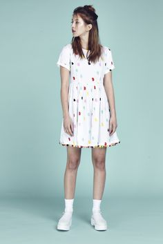 Lazy Oaf Pom Dress http://www.lazyoaf.com/lazy-oaf-pom-dress-3