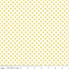 Basics  Small Dots on White in Yellow  C48050  1 by FabricFlyShop, $8.50