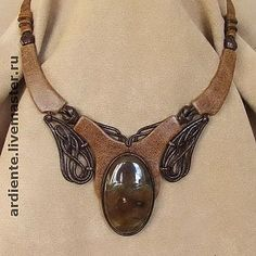 Pendants and necklaces from the skin, skin tattoos . Discussion on LiveInternet - Russian Online Diaries Service Leather Carving, Leather Art, Leather Cuffs, Leather Tooling, Leather And Lace, Wooden Necklace, Leather Necklace, Leather Accessories, Jewelry Accessories
