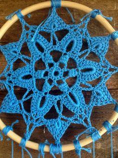 Simples de agua Mandala Crochet Dreamcatcher Homedecor