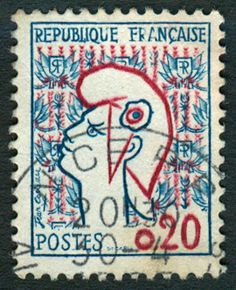 Timbre collection France années 60 Marianne 0,20 F