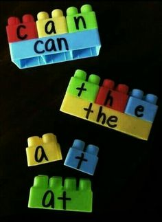 Great spelling activity for young children and the larger Lego's!! All you need is Lego's and a permanent marker!