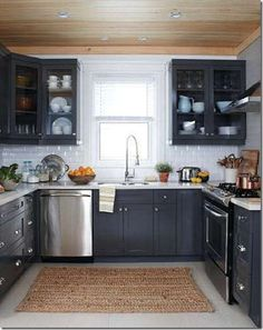 This exactly my kitchen layout, but a slightly better use of space. Love the dishwasher location