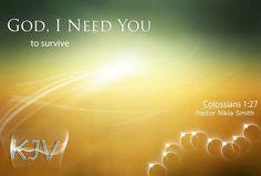 God, I need You...