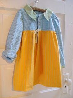 Sweet up-cycled little girls dress!