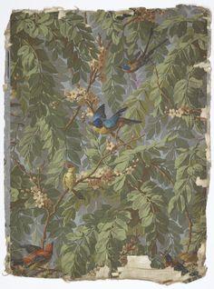 French wallpaper c.1900-1915 - Cooper-Hewitt National Design Museum