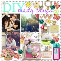 """DIY vanity trays"" by tips-by-annie on Polyvore"