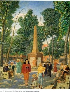John French Sloan - Monument in the Plaza, New York, 1949