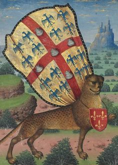 discarding images superlion Hours of Louis de Laval, France ca. Medieval World, Medieval Art, Medieval Manuscript, Illuminated Manuscript, Costume Roi, Medieval Paintings, Statues, Book Of Hours, Marca Personal